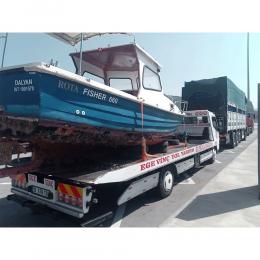 Tekneye Özel Rota Fisher ve Tekne Plakası Sticker Yapıştırma 115x56cm