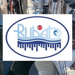Kişiye Tekneye Özel Rubato Logosu ve Yazısı Sticker Yapıştırma 90x60cm