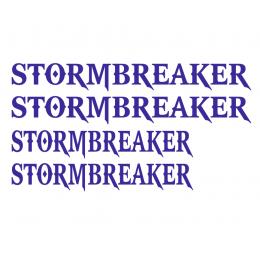 Kişiye Tekneye Özel STORMBREAKER  Yazısı Sticker Yapıştırma 100x50cm