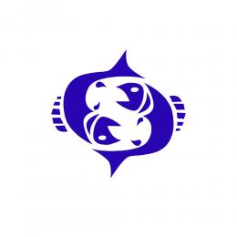 Kişiye Tekneye Yatlara Özel Balık Burcu Logo Yazısı Sticker Yapıştırma 80x80