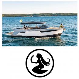 Kişiye Tekneye Yatlara Özel Başak Burcu Logo Yazısı Sticker Yapıştırma 100x20cm