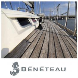 Kişiye Tekneye Yatlara Özel Beneteau Logo Yazısı Sticker Yapıştırma 100x20cm