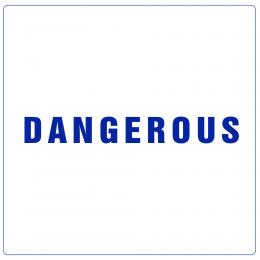 Kişiye Tekneye Yatlara Özel Dangerous Yazısı Sticker Yapıştırma 120x40cm