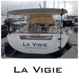 Kişiye Tekneye Yatlara Özel  La Vigia Logo Yazısı Sticker Yapıştırma 100x20cm