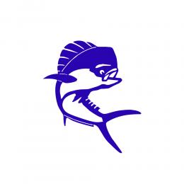 Kişiye Tekneye Yatlara Özel yunus dolphin  Logo Yazısı Sticker Yapıştırma 100x20cm