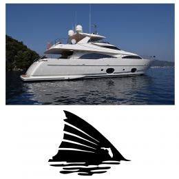 Kişiye Tekneye Yatlara Özel Redfish  Logo Yazısı Sticker Yapıştırma 100x20cm