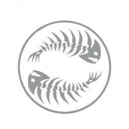Kişiye Tekneye Yatlara Özel Ying Yang Pirana Balığı Logo Yazısı Sticker Yapıştırma 80x80cm
