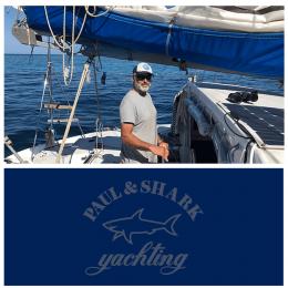 Kişiye Tekneye Özel Paul And Shark Yachting Logosu Yazısı ve Sticker Yapıştırma 120x90cm