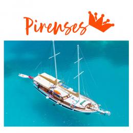 Kişiye ve Tekneye Özel Pirenses Yazısı Sticker Yapıştırma 115x50cm