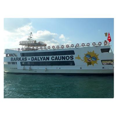 Tekneye Özel BARKAS DALYAN COUNOS Yapıştırma Çalışması Sticker Yapıştırma 1020x50cm