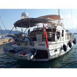 Tekneye Yat'a Özel Ketch Yazısı Çalışması Sticker Yapıştırma 100x20cm