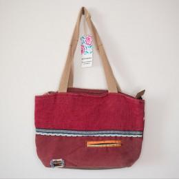 Old Cotton Cargo Kc Eva Bag Omuz Çantası 4005 Patchwork 2 Kadınlar için Omuz Çantası - Okul, Seyahat Çantası