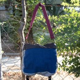 Old Cotton Cargo San Diego Bag Omuz Çantası 8045 Kahverengi 2 Unisex Kadın ve Erkek için Omuz Çantası - Okul, Seyahat Çantası