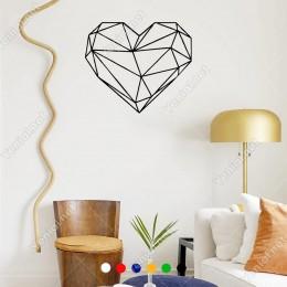 Dekoratif Şekilde Oluşturulmuş Kalp Duvar Sticker 60x41cm