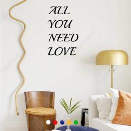 El Yazısı All You Need Love Duvar Yazısı Sticker 60x37cm