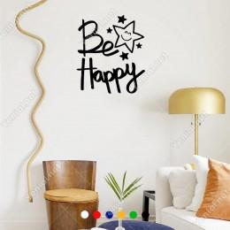 El Yazısı ile Yazılmış Be Happy Yazısı Sticker 60x52cm