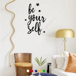 El Yazısı ile Yazılmış Be Your Self Yazısı Sticker 60x39cm