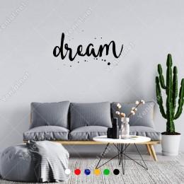 El Yazısı ile Yazılmış Dream Yazısı Sticker 60x33 cm