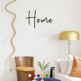 El Yazısı ile Yazılmış Home Duvar Yazısı Sticker 60x40cm