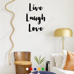 El Yazısı ile Yazılmış Live Laugh Love Yazısı Sticker 60x39cm