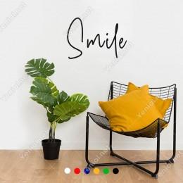 El Yazısı ile Yazılmış Smile Duvar Yazısı Sticker 60x41cm