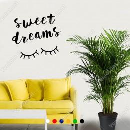El Yazısı ile Yazılmış Sweet Dreams Yazısı Sticker 60x35cm