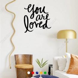 El Yazısı ile Yazılmış You Are Loved Yazısı Sticker 60x57cm