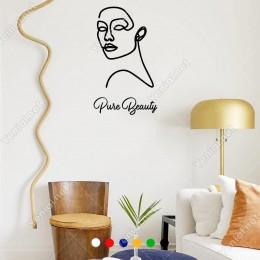 El Yazısı Puse Beauty Ve Kadın  Duvar Yazısı Sticker 60x35cm