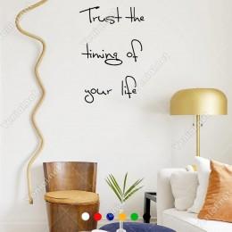 El Yazısı Trust The Thing Of Your Lİfe Duvar Yazısı Sticker 60x40cm