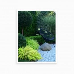 Duvar  İçin Resim Bahçe Ve Sandalye 35x25 cm