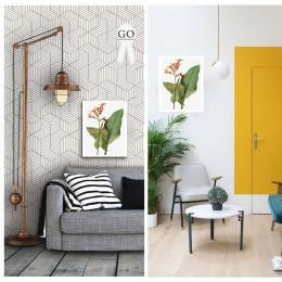 Duvar  İçin Resim Muz Yaprağı ve Çiçeği  35x25 cm