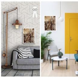 Duvar  İçin Resim Sazlıklar ve Yaprak Kuruları 35x25 cm