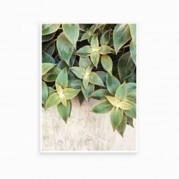 Duvar  İçin Resim Yeşil Yapraklar 35x25 cm