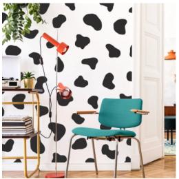 50 adet inek nokta Polka Dot duvar Sticker yatak odası buzdolabı sevimli inek baskı nokta nokta duvar çıkartması buzdolabı çocuk odası vinil dekor 4.8