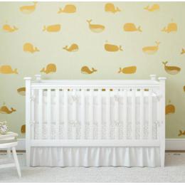 Karikatür balina vinil duvar Sticker sevimli kreş dekor, sevimli vinil balina duvar çıkartmaları çocuk odası için deniz dekorasyon
