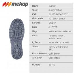 Mekap Jüpiter 101 Black Barton Çelik Burun İş Ayakkabısı