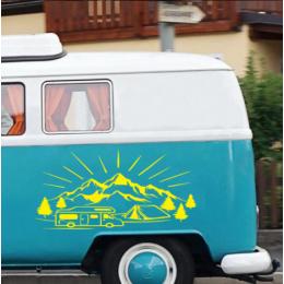 1 adet grup yan kapı dağ etiket karavan camper karavan vinil dekoratif araba çıkartması