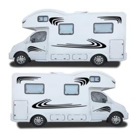 Karavan STRIPES-karavan RV çıkartmaları at binicisi karavan çıkartmalar grafik