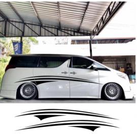 2 adet karavan araba kapı yan grafik vinil çıkartması otomatik vücut dekor çıkartmalar karavan at binicisi karavan RV çıkartmaları araba aksesuarları