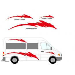 2m karavan vinil şeritler grafik seti etiketler çıkartmaları Set karavan RV karavan çekme karavan at binicisi araba styling