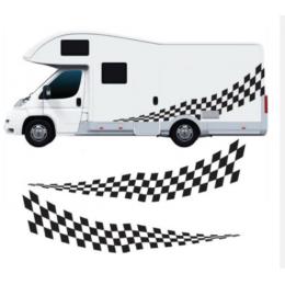 Karavan grafik damalı grafik çıkartmaları çıkartmaları van at binicisi karavan