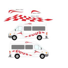 Karavan Vinil Şeritler Grafik Seti Etiketler Çıkartmaları Set karavan RV Karavan çekme karavan