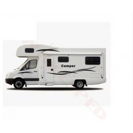 1 takım karavan karavan çekme karavan karavan çizgili grafik KK vinil kiti çıkartmaları araba çıkartmaları oto vücut dekor çıkartma