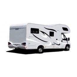 2x karavan çizgili grafik vinil grafik seti çıkartmaları araba çıkartmaları için otorhome karavan RV çekme karavan