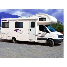 2x Van çizgili vinil grafik araba çıkartmaları karavan at binicisi karavan çekme karavan Camper kiti vinil çıkartmaları
