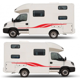Sticker kendinden yapışkanlı kamyon taraflı vinil grafik çıkartmaları karavan RV kapı/vücut çıkartmaları/Hood araba aksesuarları