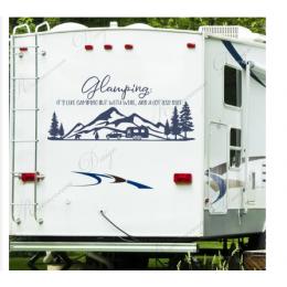 Glamping Rv çıkartması, Rv Camper vinil yapışkan, karavan motorlu ev çıkartma, su geçirmez macera odası dekorasyon