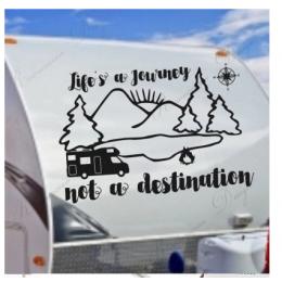 Hayat bir yolculuk Rv çıkartması, Rv hediyeler dekor Camper için vinil yapışkan su geçirmez yapışkanlı çıkartmalar