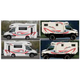 Araba çıkartmaları Stripes grafik vinil çıkartmaları çıkartmalar su geçirmez Van güneşe dayanıklı araba karavan