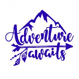 Kişiye Karavana Özel Adventure Awaits Dağ sticker Yapıştırma 2 Adet